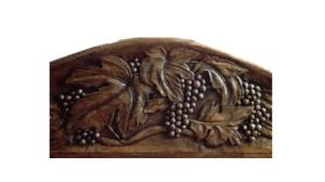 Dr Bobbitt's self carved bed